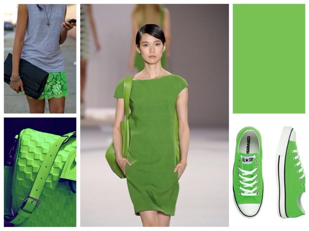 яркий зеленый
