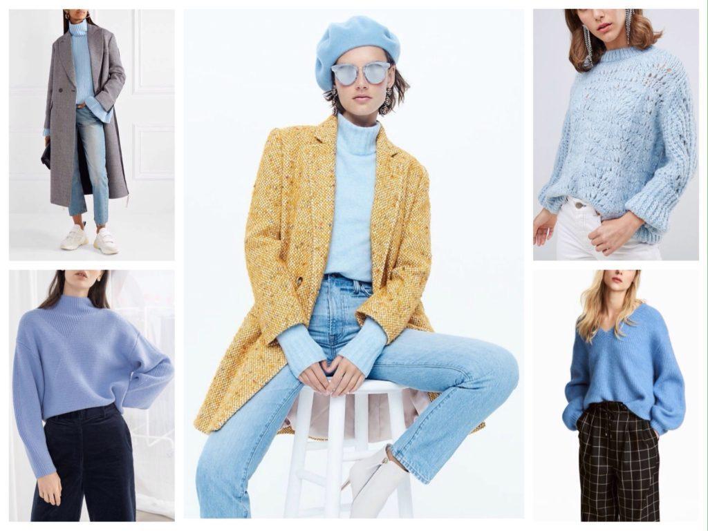 голубой свитер луки