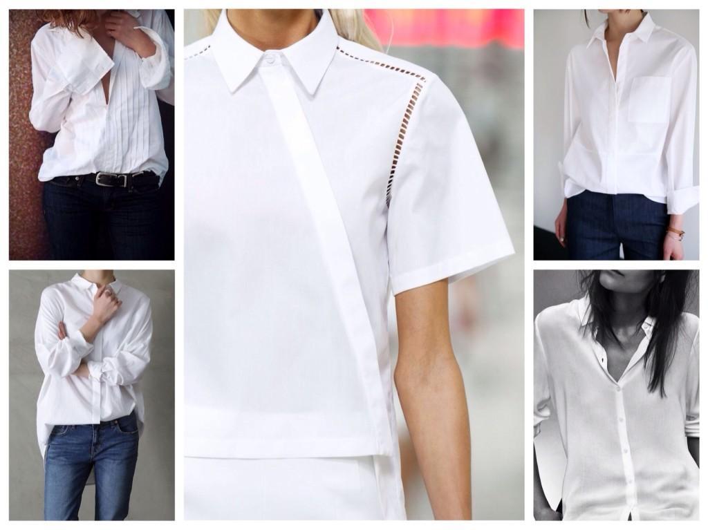 варианты фасонов белых рубашек