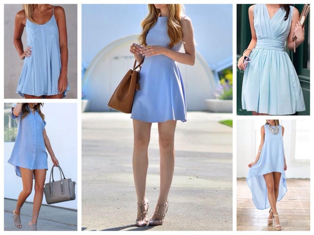 легкие платья для лета голубых цветов