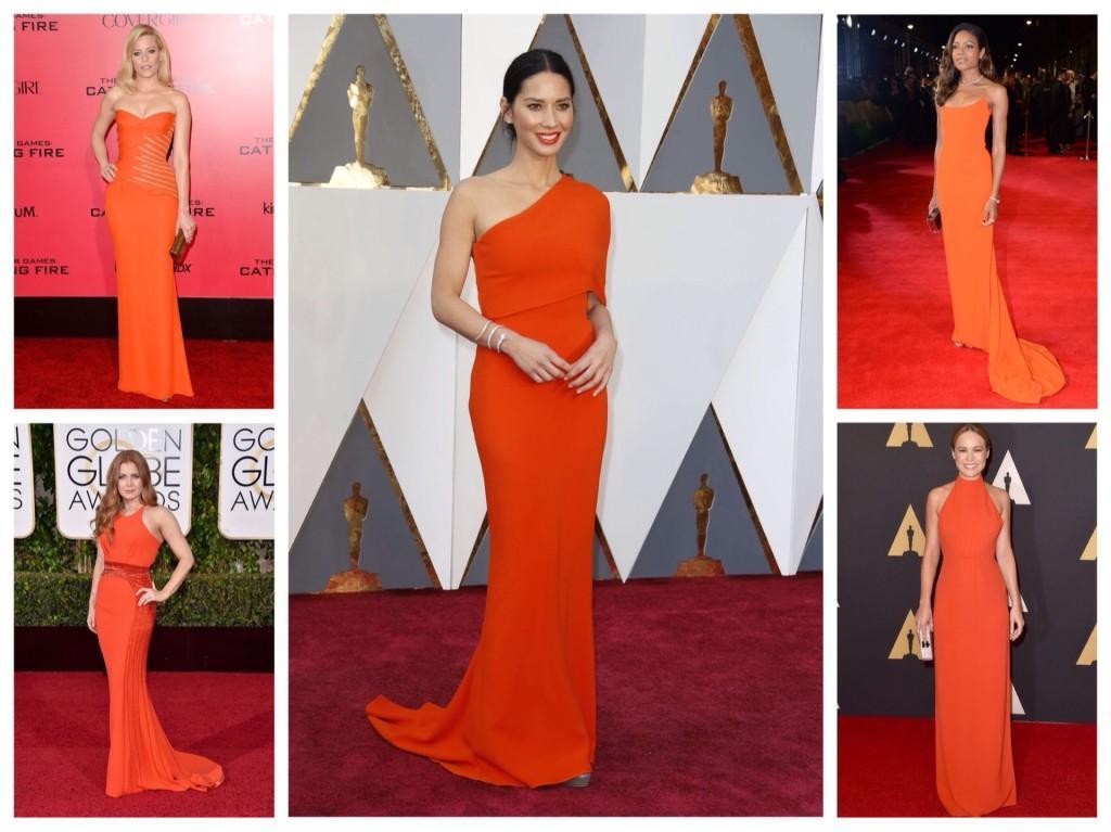 Оранжевые вечерние платья