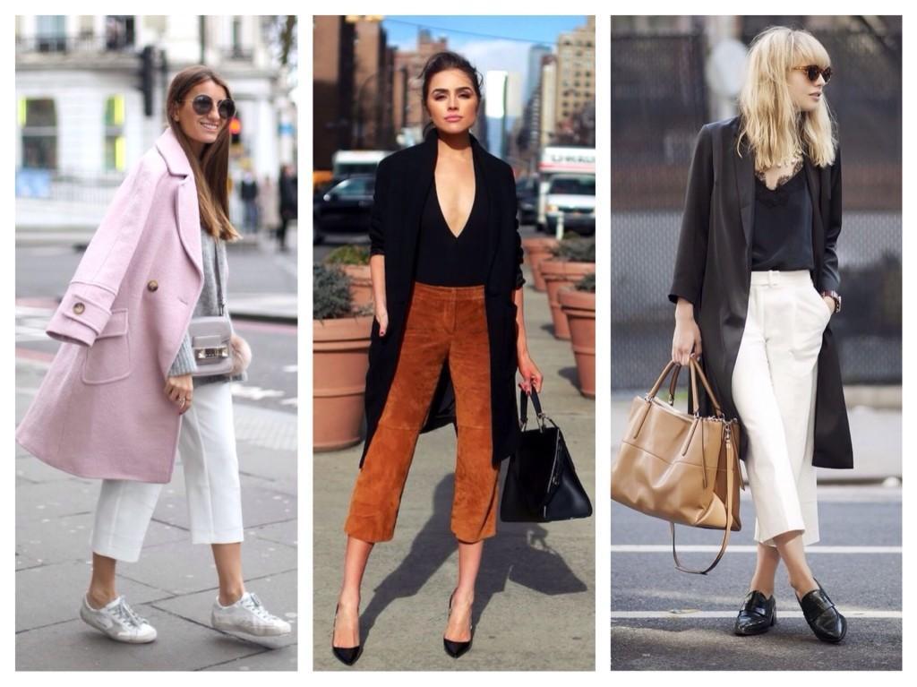 Пальто и брюки кюлот