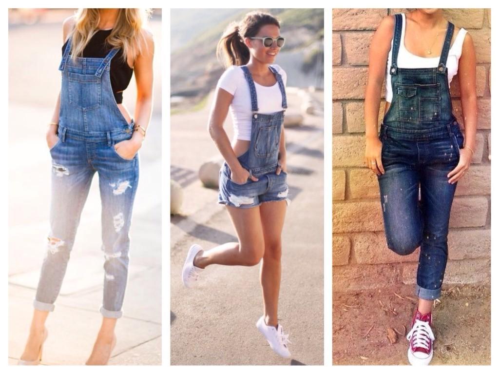 джинсовый женский комбинезон