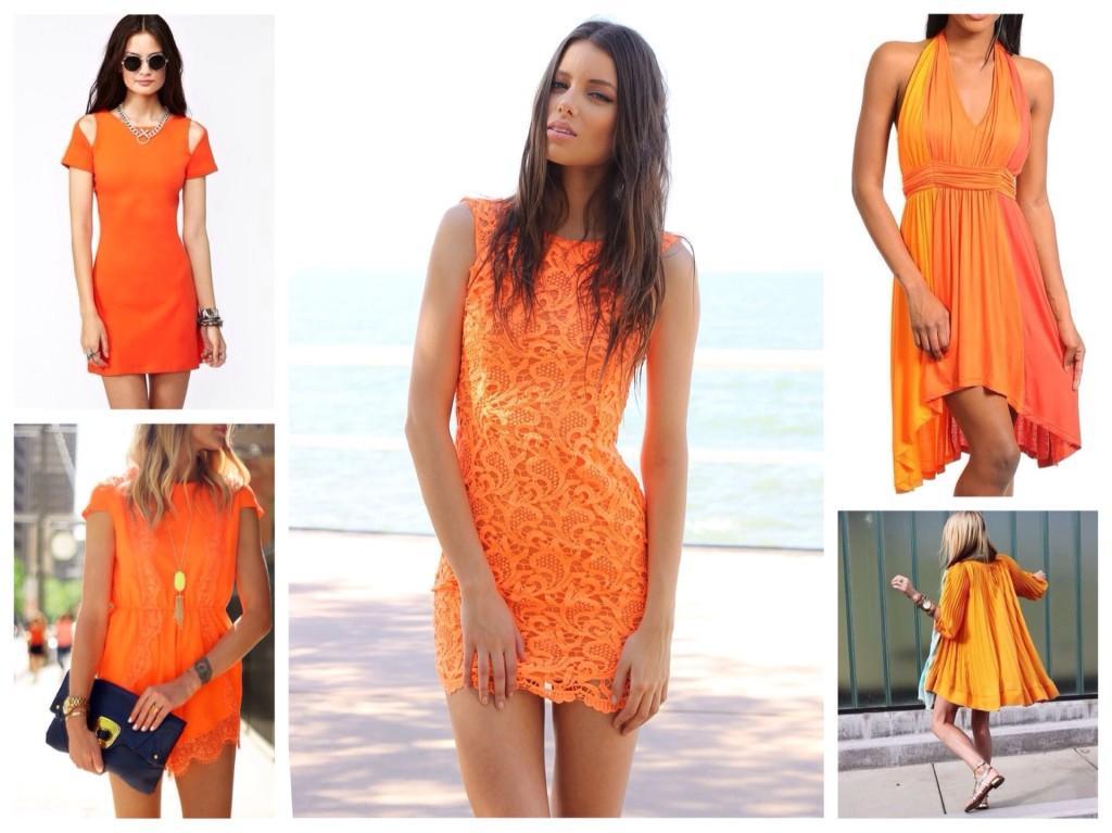 различные модели платьев
