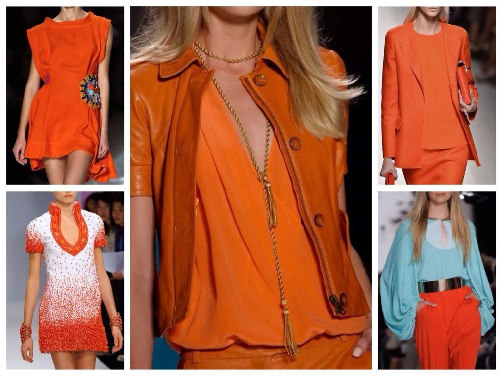 оранжевый в модных коллекциях