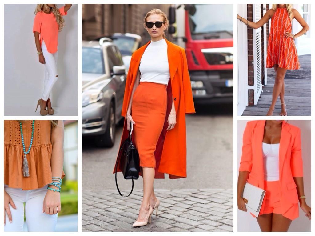сочетание белый и оранжевый