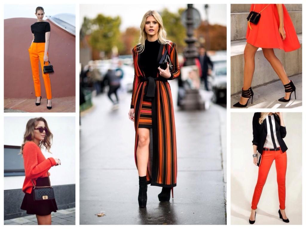 черный и оранжевый в комплектах одежды