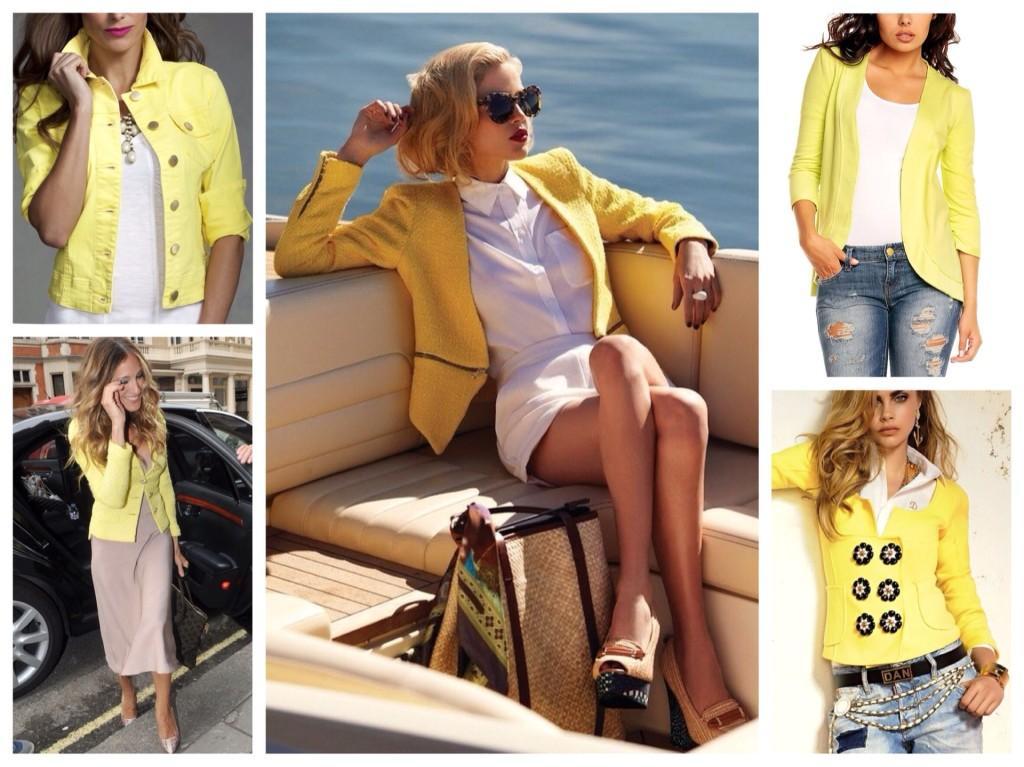 пиджаки желтых тонов