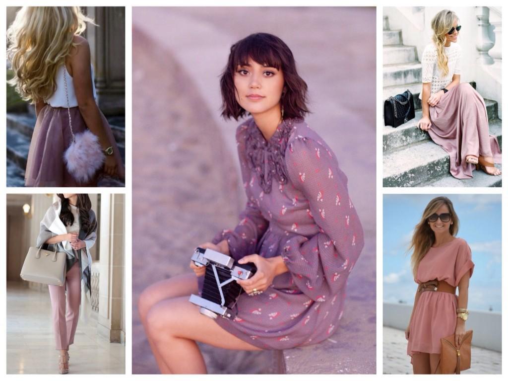 лиловый комплекты одежды