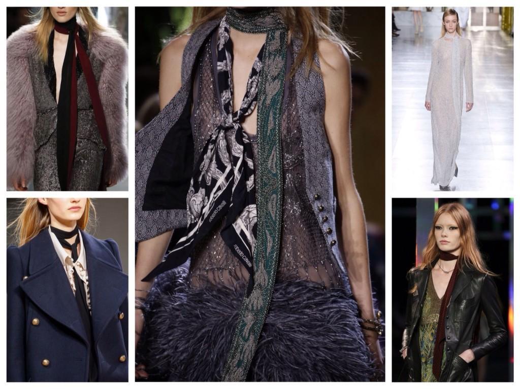 тонкие шарфы с мировых коллекций