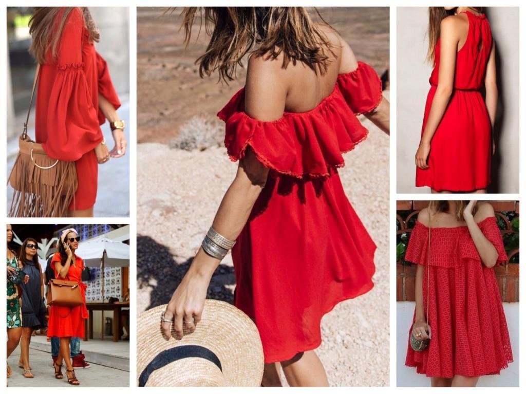 Красные платья для лета