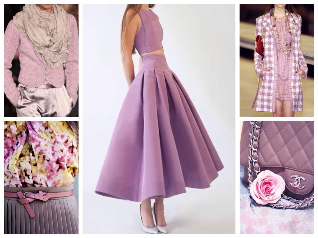 лиловый цвет в одежде и аксессуарах