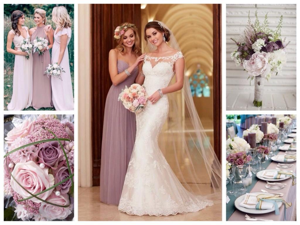 Свадьба в лиловых тонах