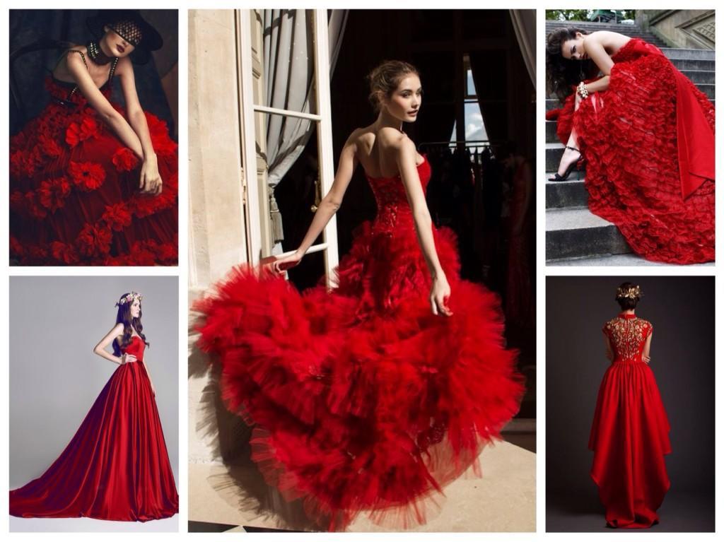 Фотосессии в красном платье