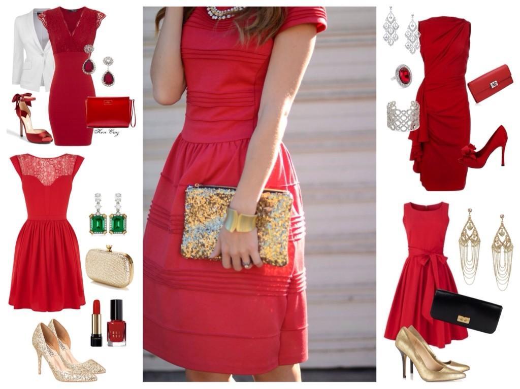 Выбор аксессуаров под красное платье