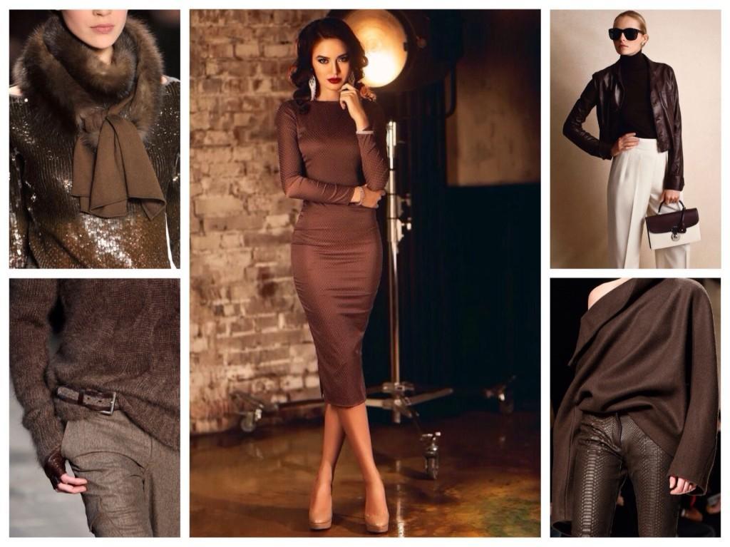 одежда коричневых тонов