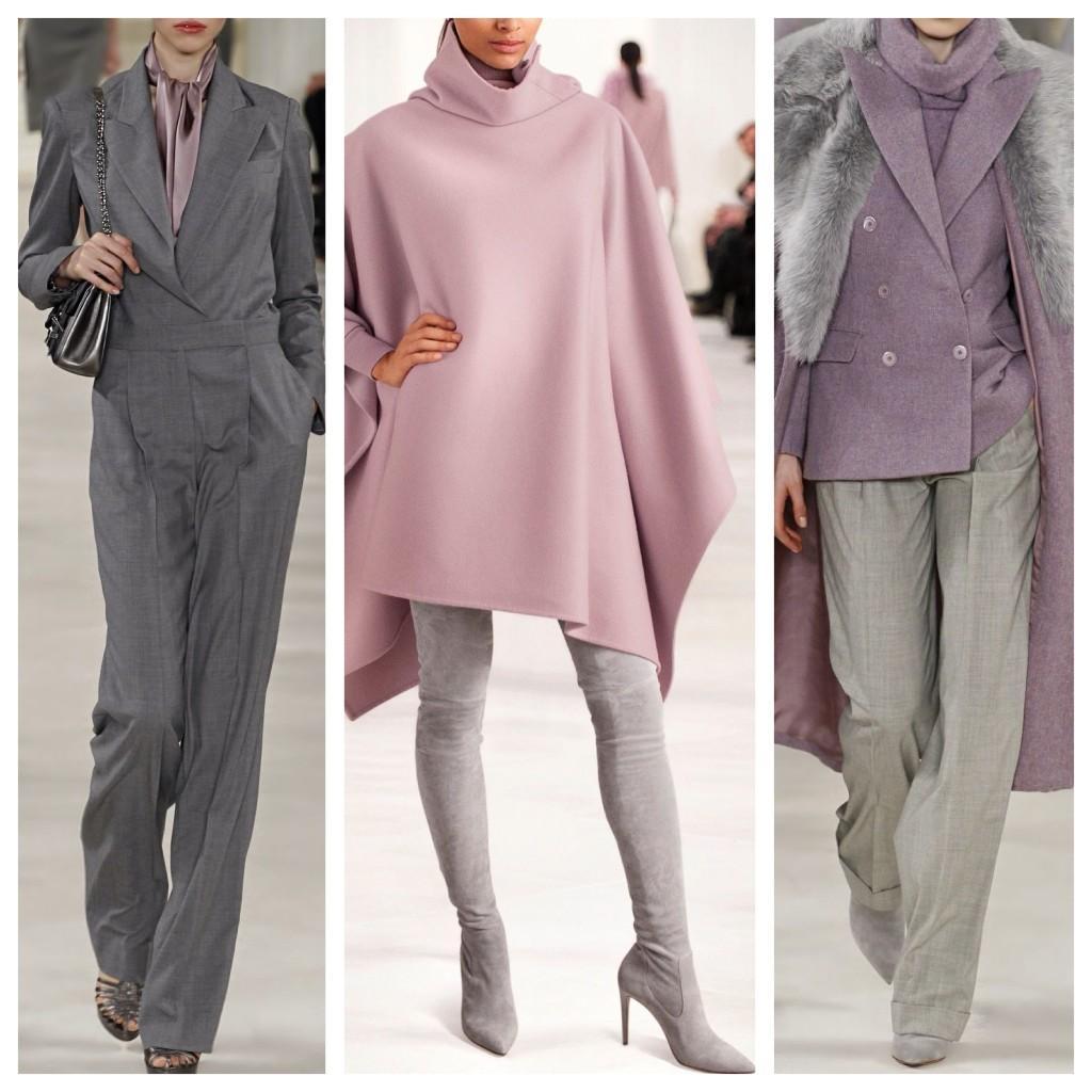 лиловый и серый в одежде