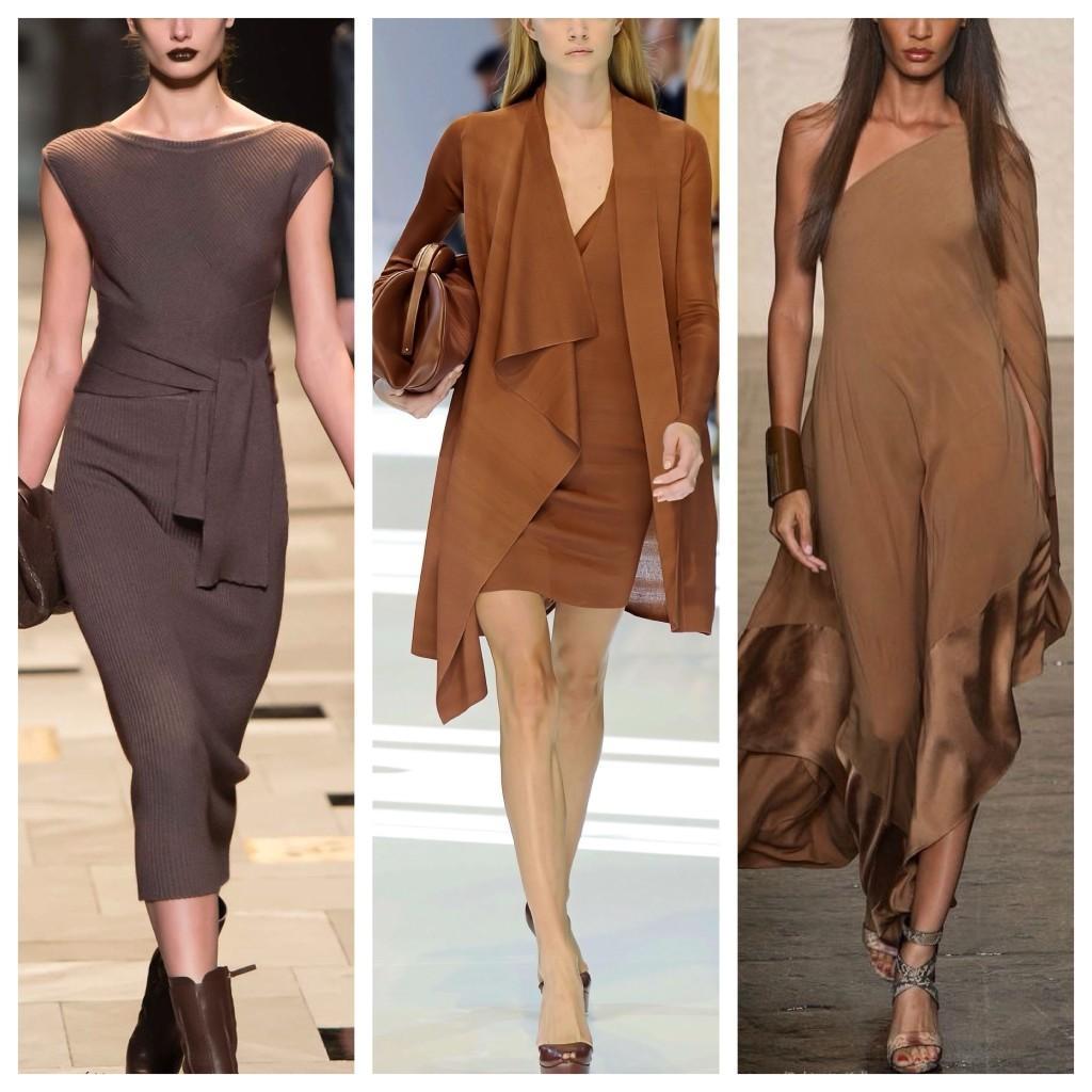 платья различных оттенков коричневого цвета