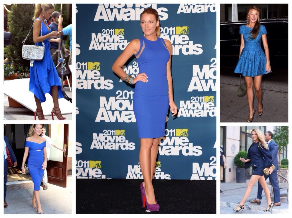 Синие платья Блейк Лайвли