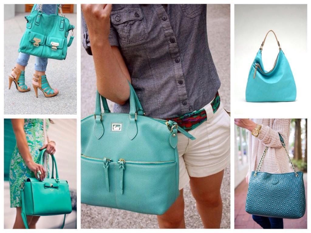 бирюзовые сумки