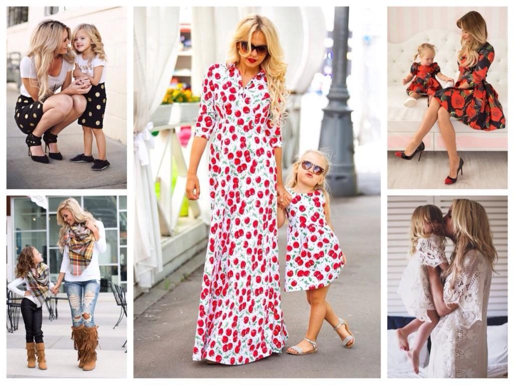 парные образы мама и дочь