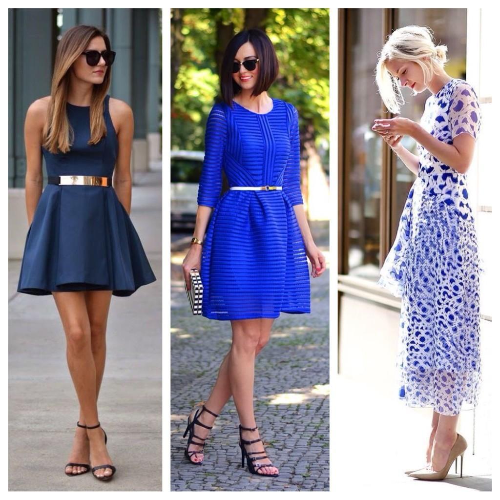 Обувь к синему платью