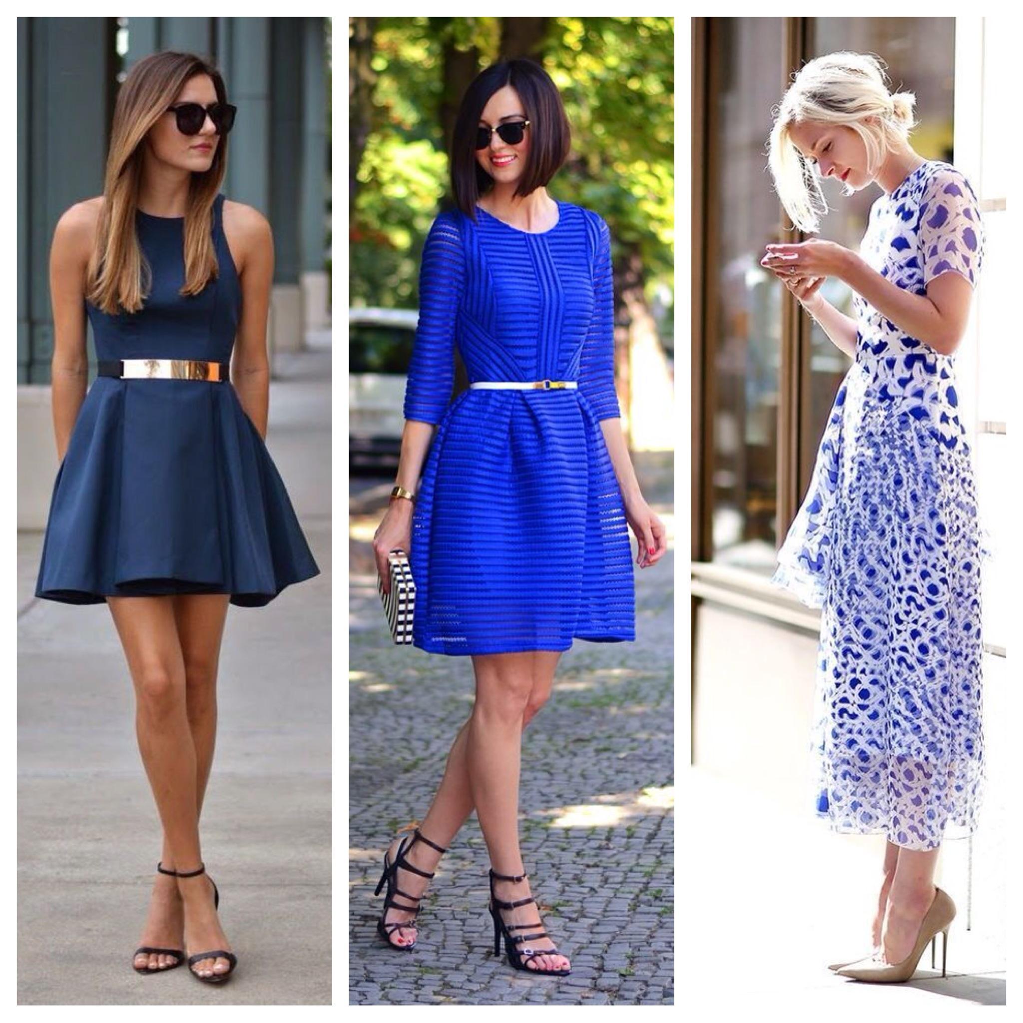 Цвет сапог к синему платью фото