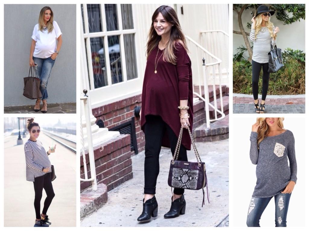 майки и туники для беременных