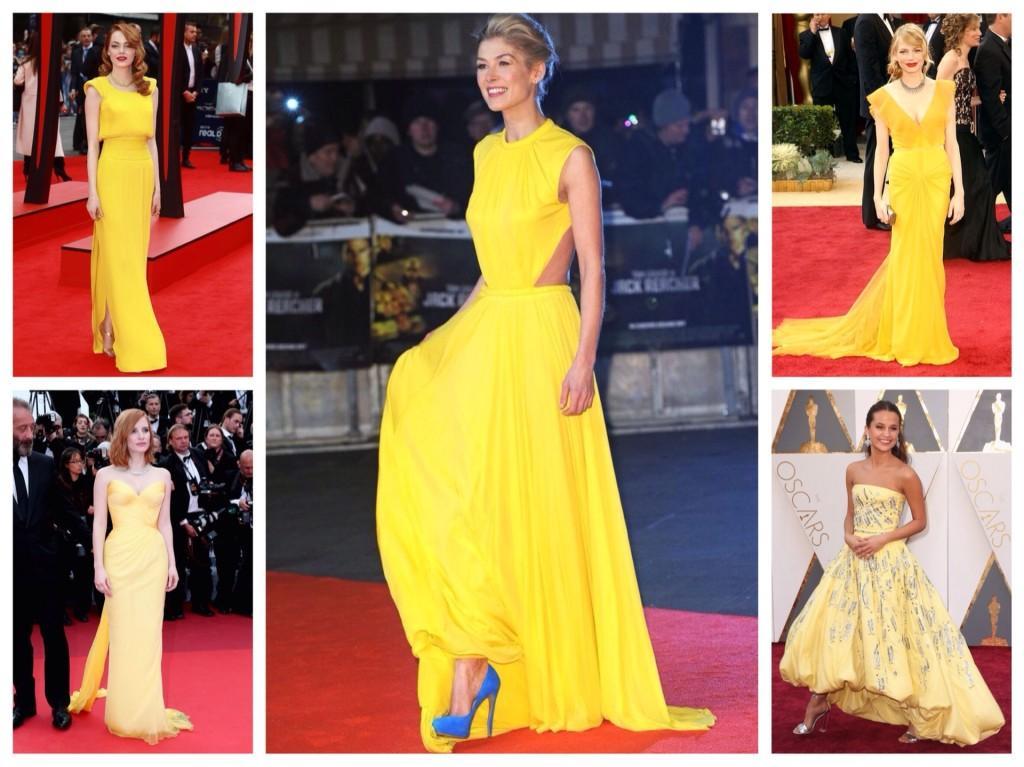 выбор желтого платья для мероприятия