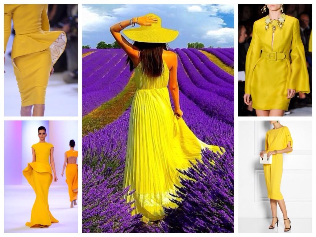 яркие платья желтого цвета