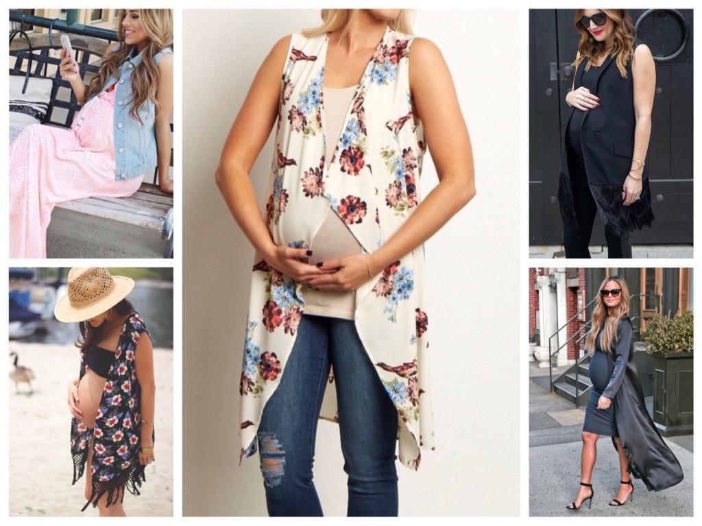 летние комплекты с жилетом для беременных