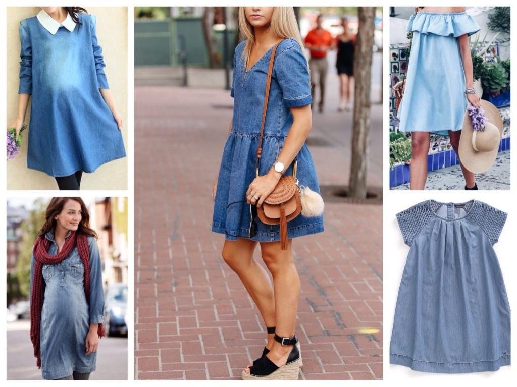 джинсовые платья в беременность