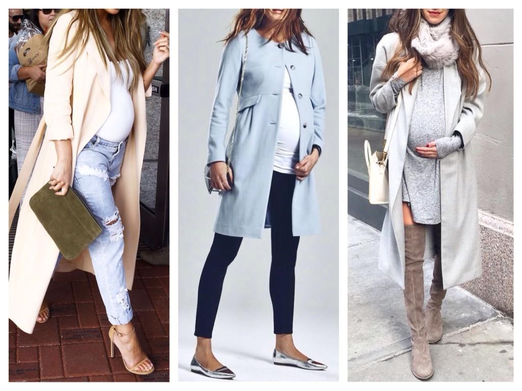 модели пальто и плащей для беременных