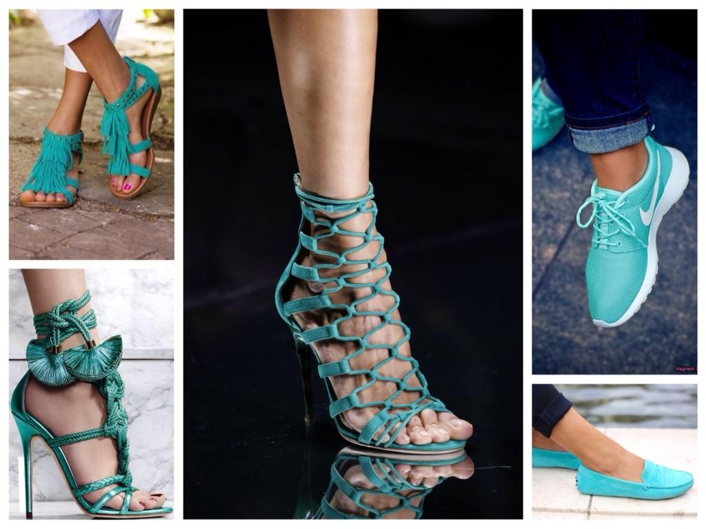 бирюзовая обувь