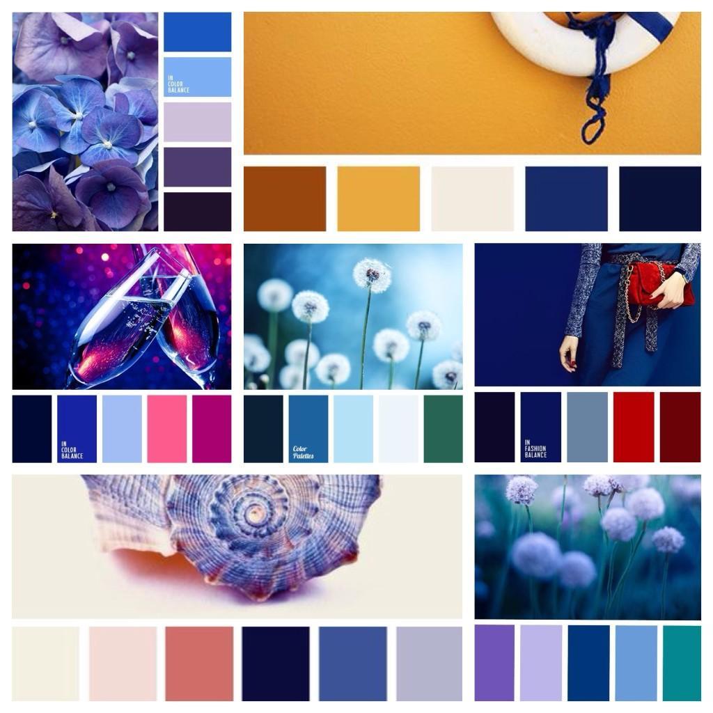 сочетания с синим цветом