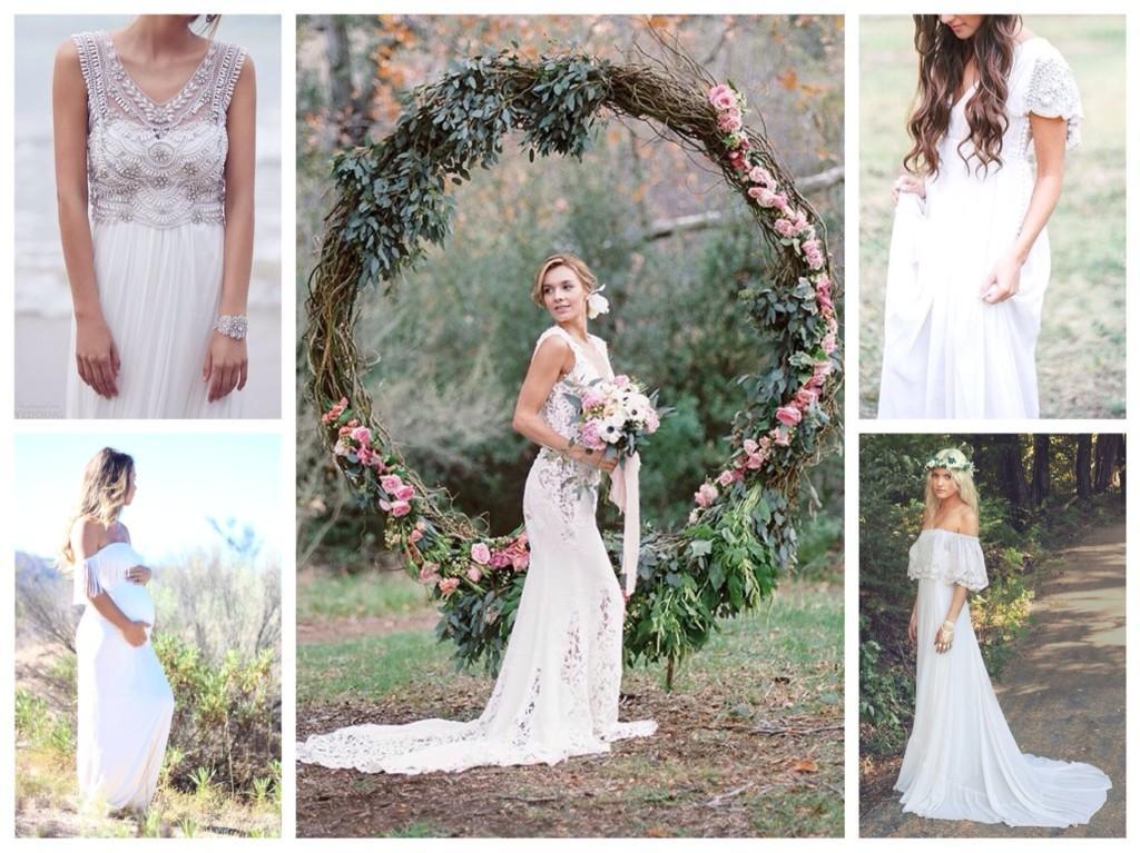 платья на свадьбу в стиле бохо шик