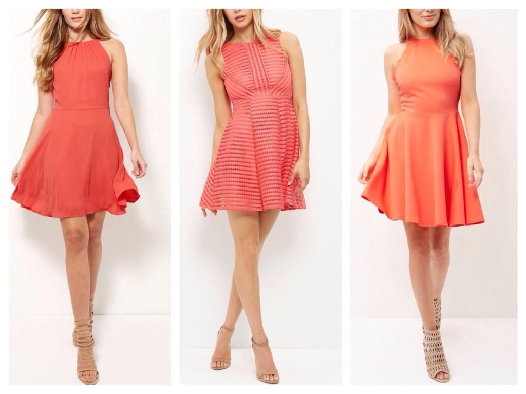 расклешенные модели платьев