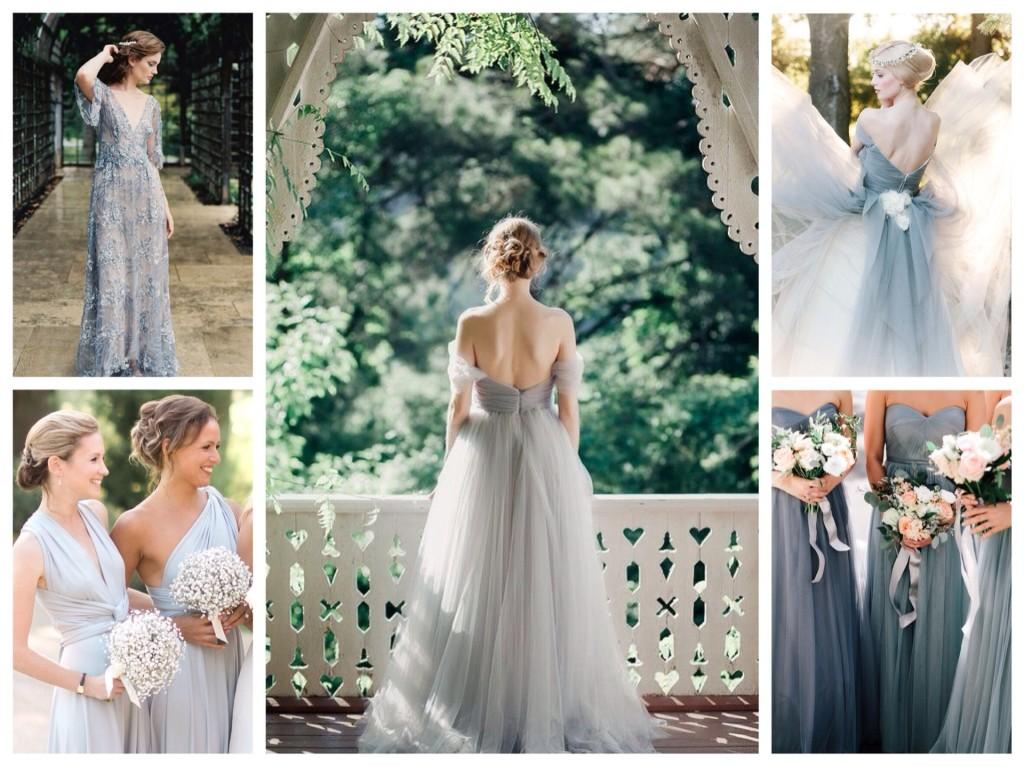 серые платья на свадьбу