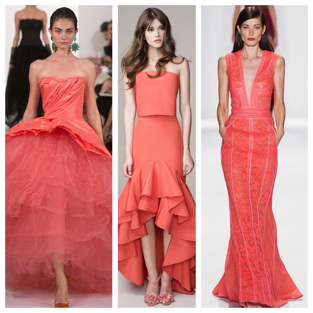модели кораллового платья