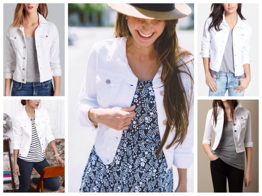 образы с белой джинсовой курткой