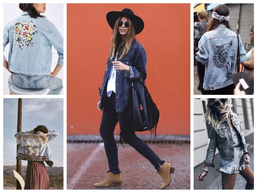 джинсовая куртка бохо шик