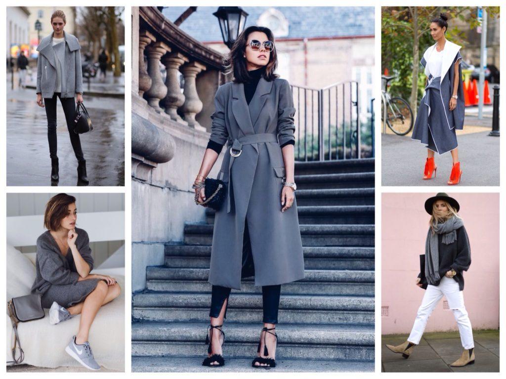 серый цвет в комплектах одежды