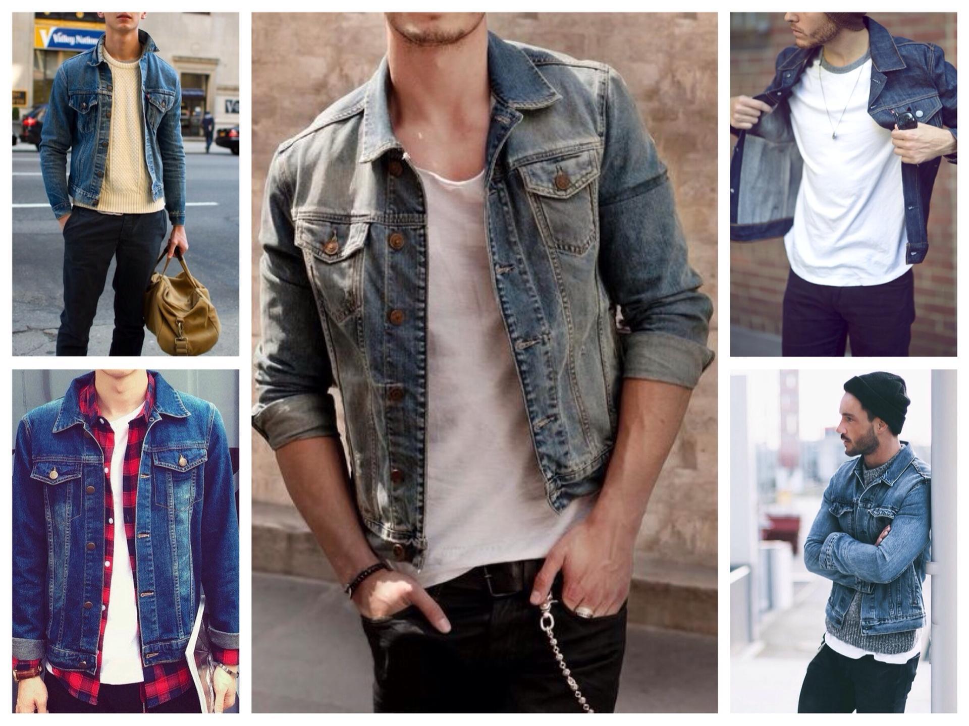 с чем носить мужскую джинсовую куртку фото приятно будет сознавать