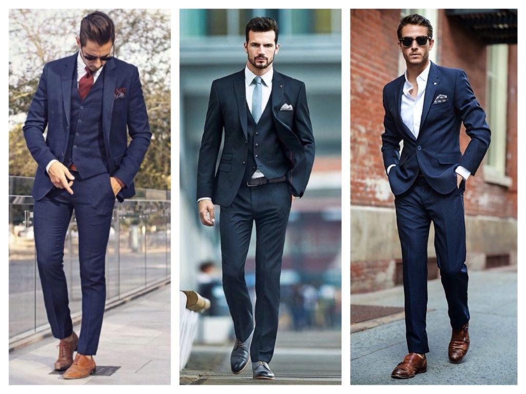 мужские синие костюмы