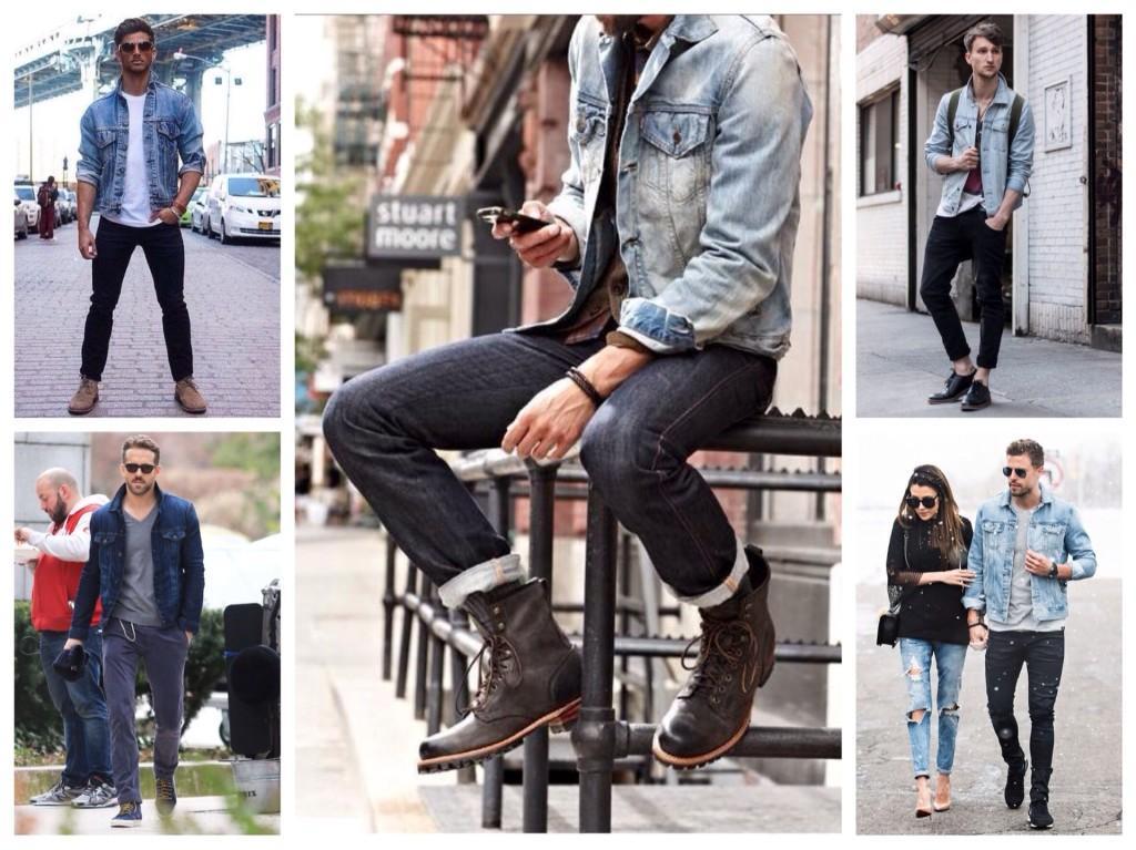 Джинсовая куртка мужские комплекты