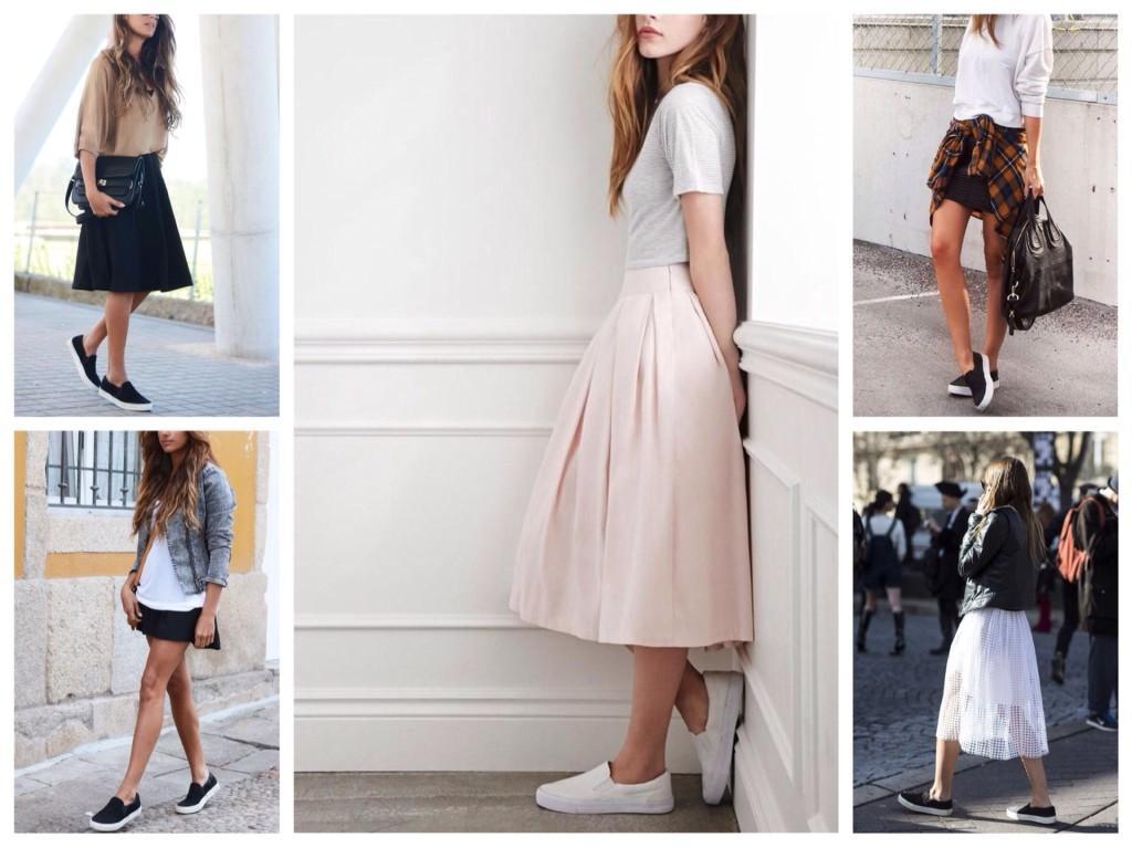 юбка и слипоны