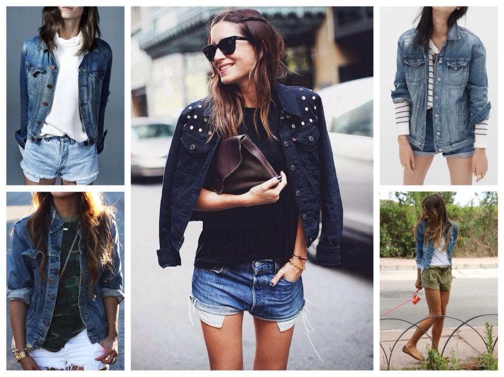 джинсовая куртка с шортами
