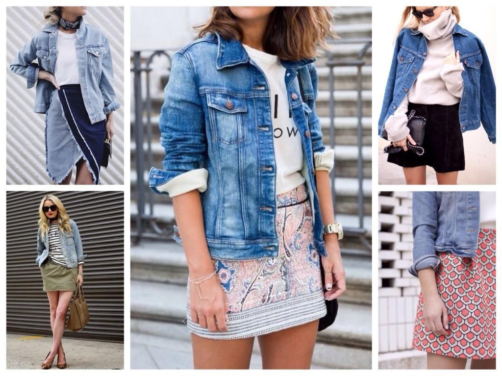 джинсовая куртка с юбкой