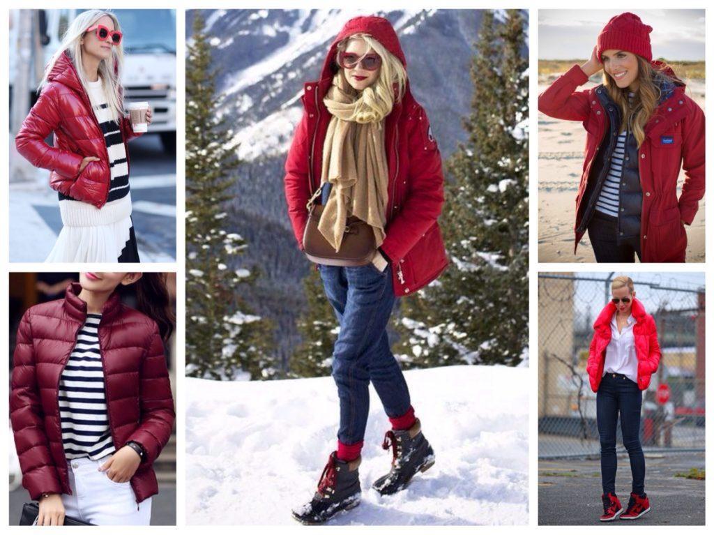 красные куртки