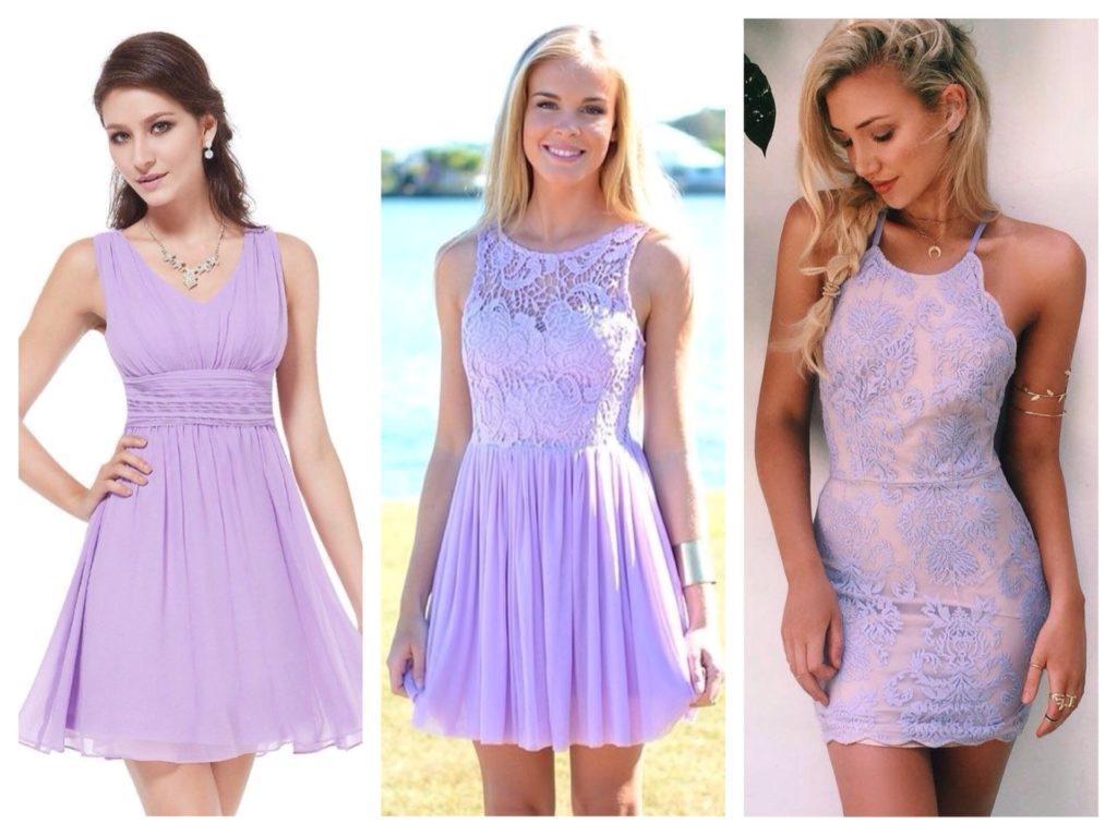 сиреневые платья для лета